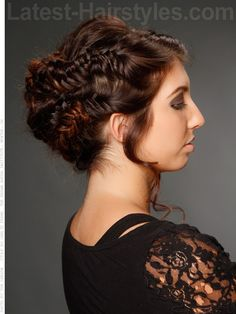 Herringbone Honey - Love this braided look for prom!