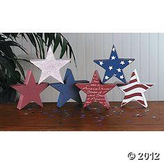 Patriotic Stacking Stars, Patriotic & 4th of July Crafts
