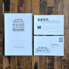 free bike wedding invitation suite printables.