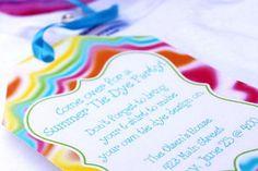 Tie Dye party ideas