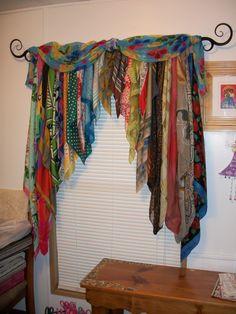 . bohemian decor diy, head scarfs, diy crafts, diy bohemian decor, diy hippie crafts, bohemian window treatments, diy hippy curtains, diy bohemian curtains, head scarves diy