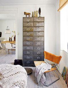 interior design, design homes, chairs, metal, filing cabinets, danish design, danishes, drawer, deer