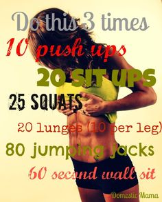Mini morning workout. 20 minute workout.