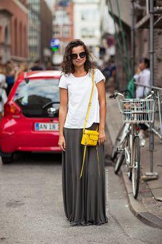 Maxi skirt and tee
