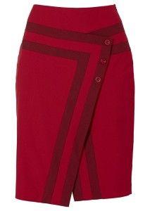 Modelagem de saia envelope com detalhes do 38 ao 56
