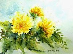 Watercolor Dandelions