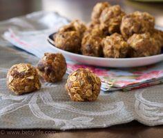 Best ever after school snack. No bake peanut butter energy bites.| betsylife.com