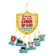 """Color Your Own """"Armor Of God"""" Mobile Craft Kit - OrientalTrading.com"""