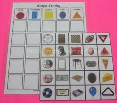 Shape Sorting Board Autism Pecs Speech ABA Therapy   eBay