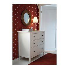 HEMNES 3 drawer chest, white - guest bedroom