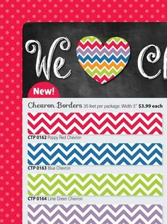 Chevron - poppy red chevron