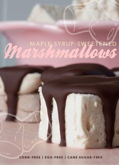 Maple Syrup-SweetenedMarshmallows - Lexie's Kitchen | Gluten-Free Dairy-Free Egg-Free -