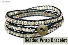 DIY Beaded Wrap Bracelet via www.craftsunleashed.com