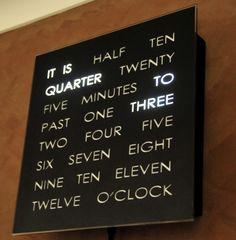 word clock. i want it.
