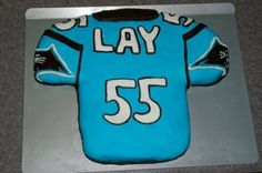 Carolina Panthers Jersey Birthday Cake By KrizzlarsKupcakes on CakeCentral.com