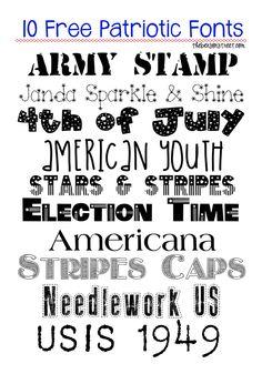 10 Free Patriotic Fonts - The Benson Street
