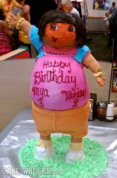 Dora cake...horrifying