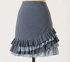 DIY ruffled skirt - Falda con volantes PAP