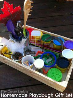 Homemade Playdough gift set