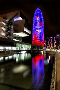 Torre Agbar, Barcelona, Spain. Our tips on 25 Things to Do in Spain: http://www.europealacarte.co.uk/blog/2012/02/09/what-to-do-in-spain/