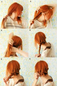 Side braid steps