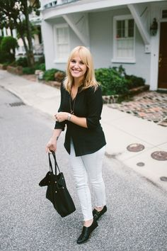 The solid blouse and Jade Monk Strap on What I'm Wearing: Fall Classics from @looklingerlove