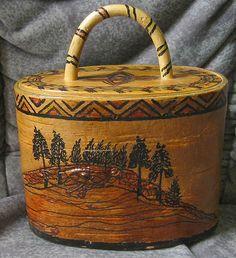 Swedish birch bark box