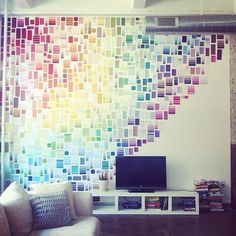 Paint sample wall