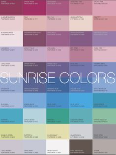"sunrise colors color palett, sunrises, shirts, aliv, sunris color, frost, ""sunrise colors"", colour palettes, blues"