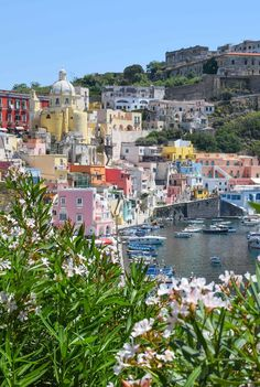 Located just off the coast of Naples, this tiny island is pure Italian charm without the crowds (or prices) of its neighbors around the Amalfi Coast. #travel #Italy #Procida #islands