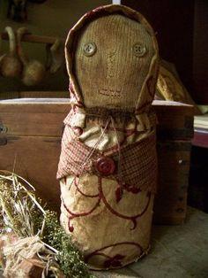Primitive Door Stop Sock Doll Pattern-pattern, primitive doll pattern, pine patch primitives, door stop, bottle doll, primitive, aged, grungy, early american, sock doll, easy doll pattern, handmade, hand sewn,