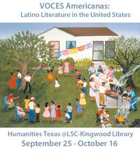 Credit: Barbacoa para Cumpleaños, by Carmen Lomas Garza, 1993.  The LSC-Kingwood Library will host a Humanities Texas exhibit, VOCES Americanas: Latino Literature in the United States from September 25 - October 16. Kickoff for Hispanic Heritage month for the college is September 25th! Join us!