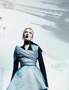 ANOTHER MAGAZINE- Daria Strokous in Raf Simons by Willy Vanderperre.