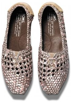 LOVE these hand braided #TOMS in a metallic taupe http://rstyle.me/~1MrbB