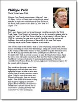 Honoring 9/11..summary about the man who tightroped between the two towers