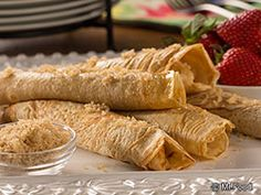 Rolled Pancakes - Light 'n' sweet, these breakfast pancakes are much less messy than the traditional version. #lowfat #diabetic