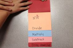 classroom idea, division, 4th math, flip books, elem math, math educ, math idea, divis flip, 4th grade