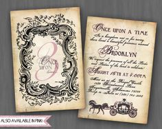Rustic Princess Party Invitation- birthday or shower- by Oh, Happiness Stationery