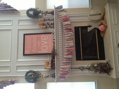 Romantic Themed Bridal Shower. Mantle/Fireplace Decor!