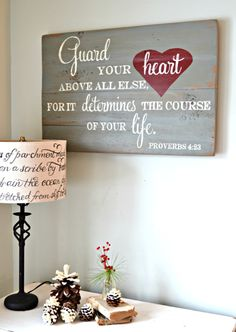 decor, god, guard your heart, crafti thing, hous idea, lamp, vers, aimee weaver designs, guarding your heart
