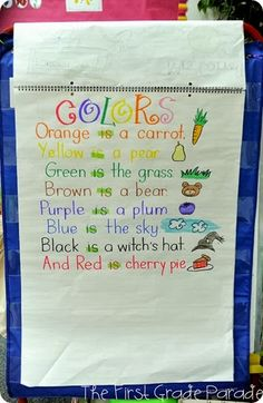 """Colors"" Poem (from The First Grade Parade)"