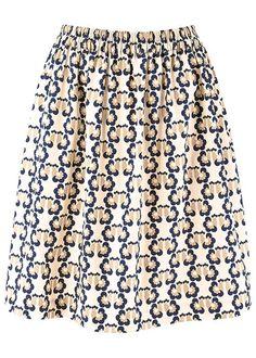 People Tree   Orla Kiely Love Birds Print Skirt
