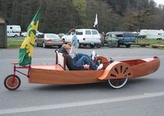 Autocanoe - Pedal Powered Amphibious Recumbent Tricycle and a Roadable Pedal Canoe. Port Townsend, Washington WA