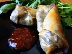 Baked Egg Rolls | OAMC from Once A Month Mom