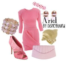 . disney style, disney inspired outfits, ariel, disney princesses, the dress, pink outfits, the little mermaid, disneybound, disney fashion