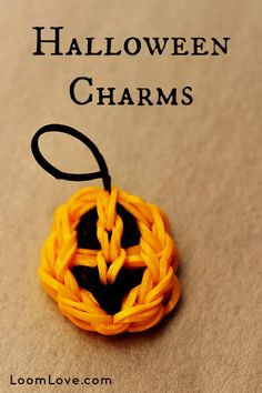 Halloween CHARM. Use Made by Mommy Smiley Face Charm pattern. Great with Mady by Mommy Candy Corn, Witch and Ghost.