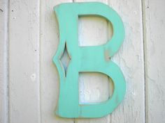 Decorative letter wall hanging B distressed by Twigs2Whirligigs.etsy.com