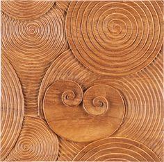 Exotic Wood Tile by Ann Sacks l Carved Tile