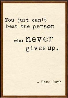 -Babe Ruth