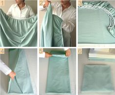 How To Fold A Fitted Sheet | Check out the step by step written instructions. Happy folding...#diy, #homemade